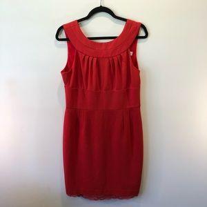 TRINA TURK- Red Sleeveless Sheath Dress